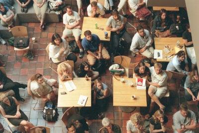 Harvard students watching 9/11 unfold.
