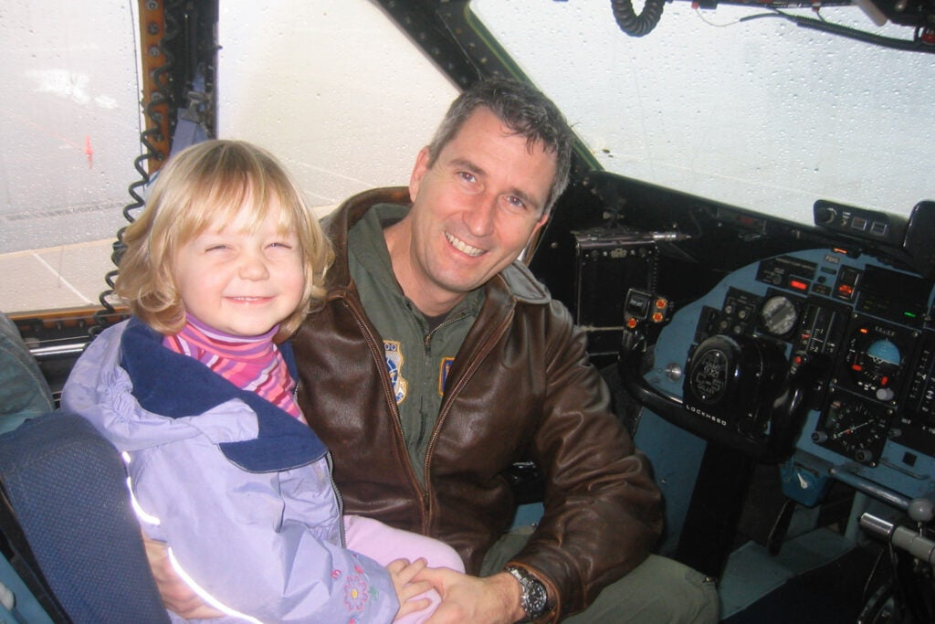 Young Caitlin Beirne and her father.