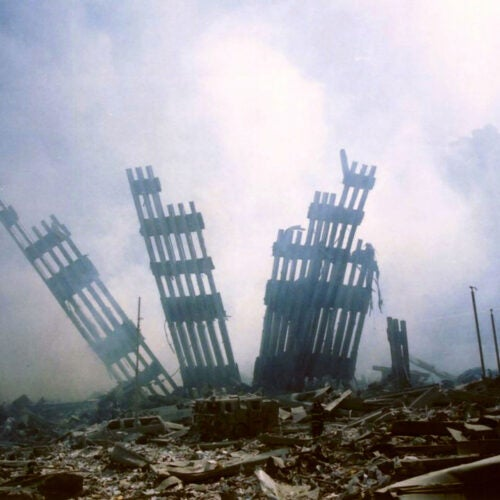 The remains of the World Trade Center.