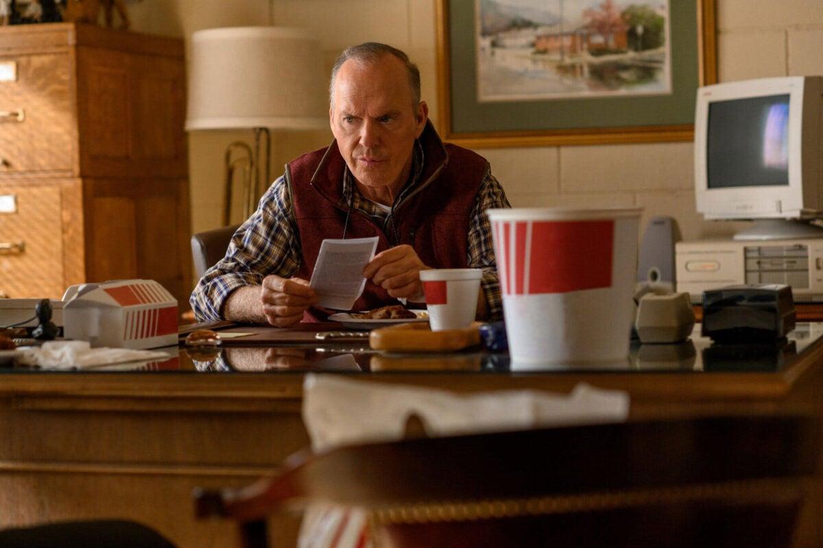 "Michael Keaton in ""Dopesick."""